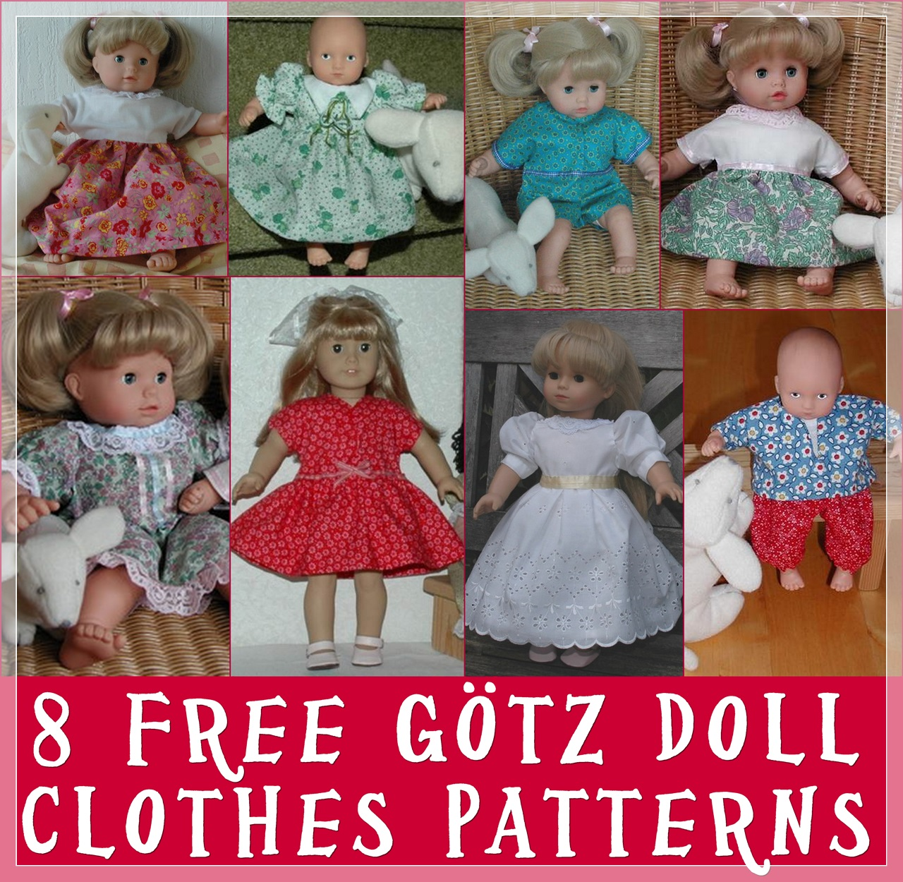 Make Your Own Gotz Dolls Clothes With These FREE & Easy Patterns ...